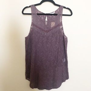 NWT American Eagle Lace Tank Size Large